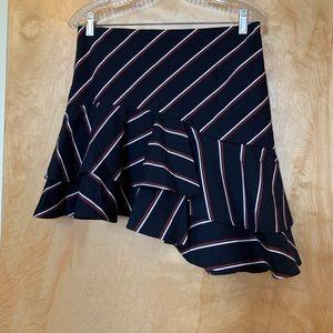 Express mini skirt with ruffles